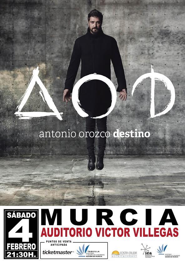 Entradas-descuento-ANTONIO-OROZCO-Tour-Destino-concierto-en-Auditorio-Victor-Villegas-Murcia-cartel