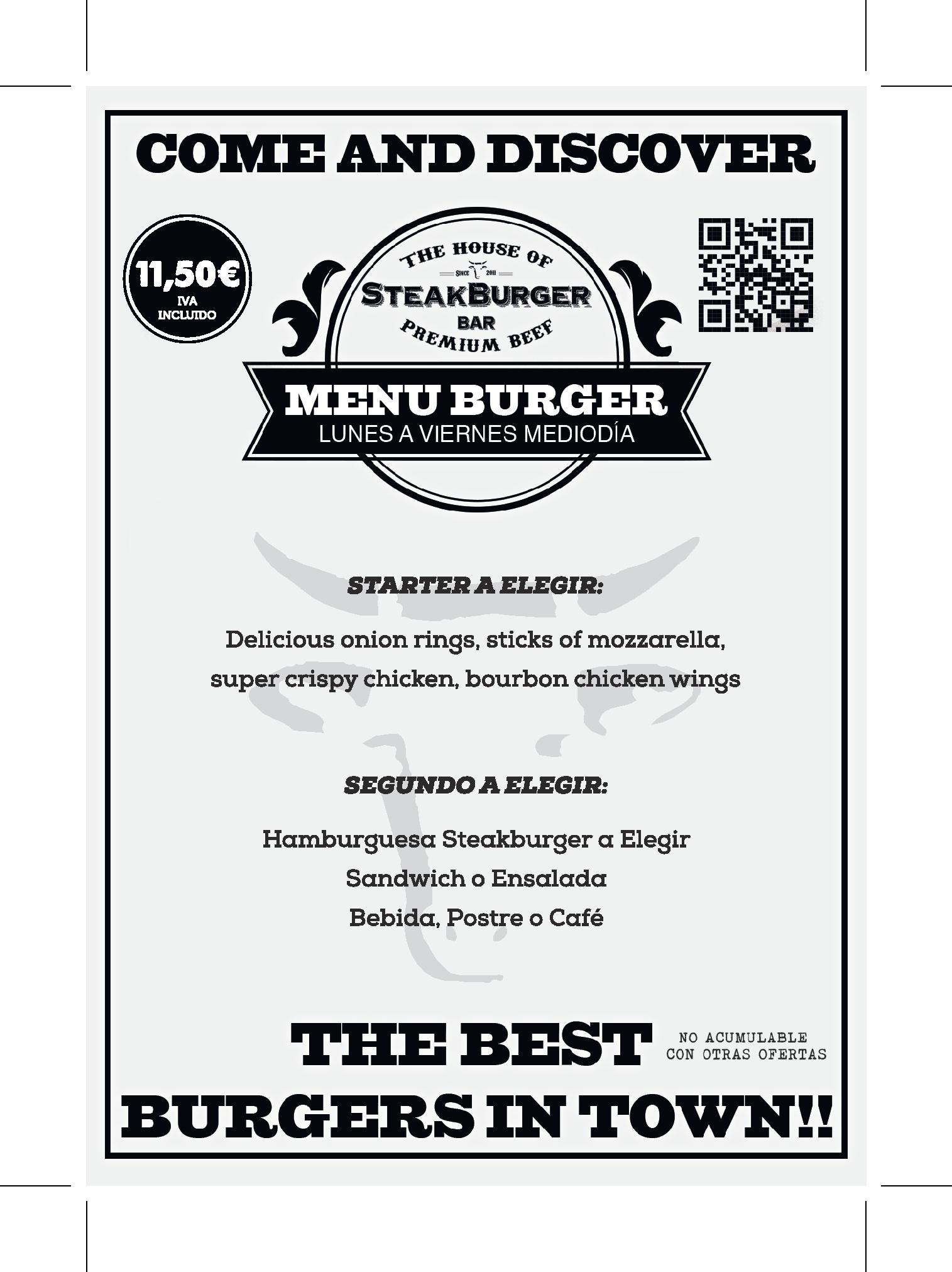 steak burger menu