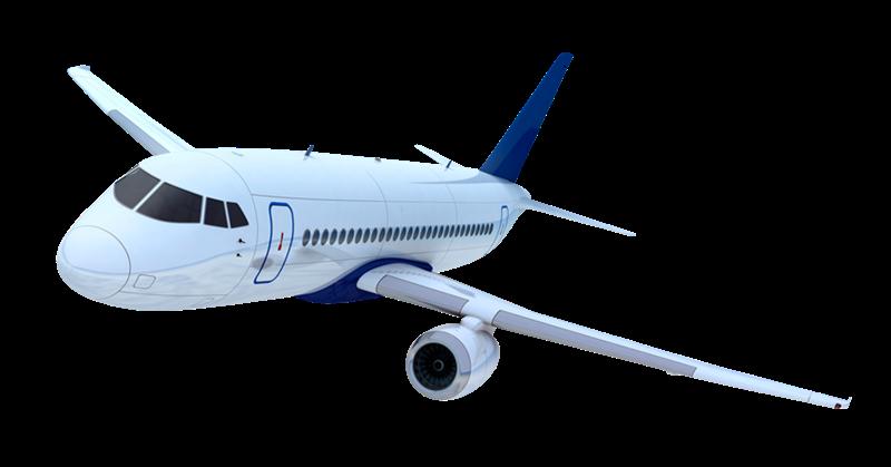 avión transaparente