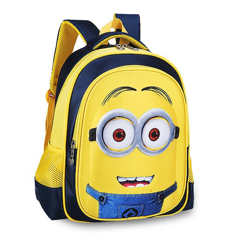 Cute-Minions-Children-s-Backpack-Boys-Animation-Cartoon-School-Bags-For-Boys-Girls-Children-Primary-Students