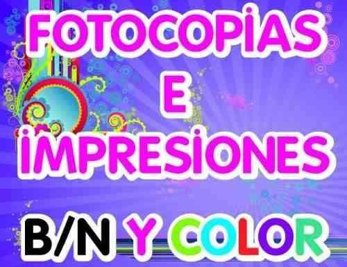 fotocopias color y B-N